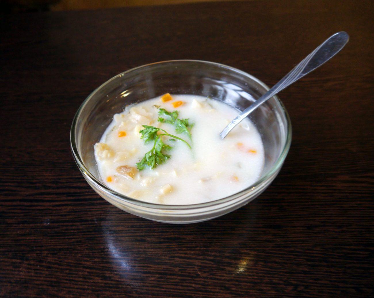Сливочный суп с треской