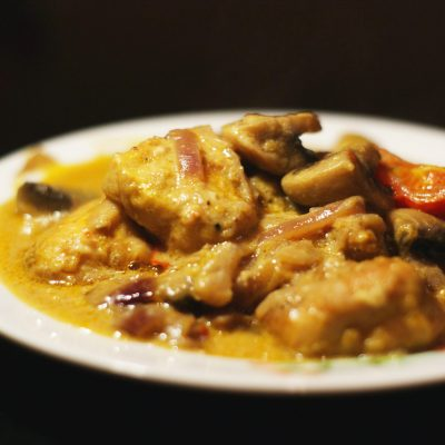 Куриное филе с грибами - рецепт с фото