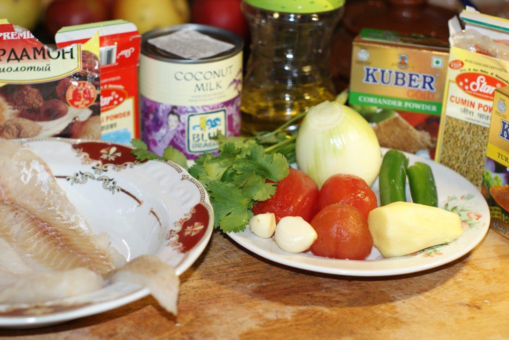 Фото рецепта - Карри из филе белой рыбы - шаг 1
