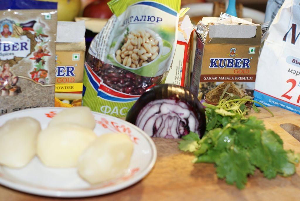Фото рецепта - Кебаб из  картофеля и фасоли - шаг 1