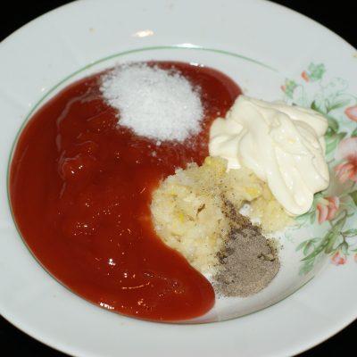 Фото рецепта - Запеченные куриные окорочка в томатном соусе - шаг 3