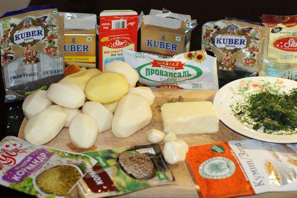 Фото рецепта - Картофель запеченный по-индийски - шаг 1