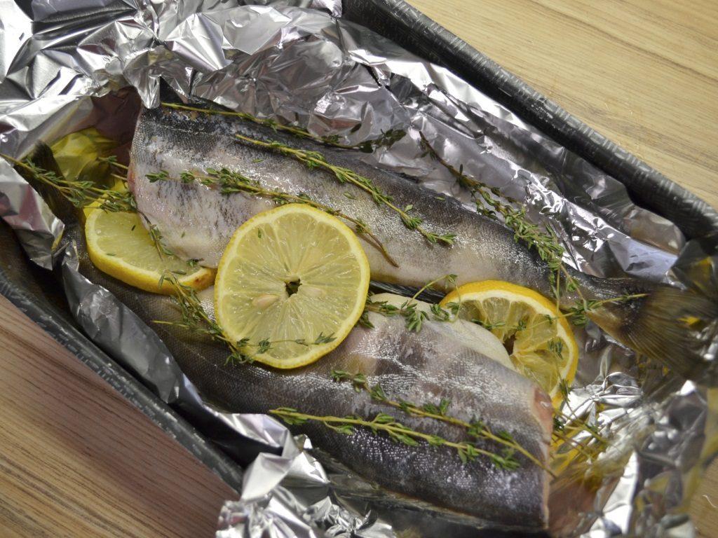 Фото рецепта - Рыба Терпуг, запеченная в фольге - шаг 3