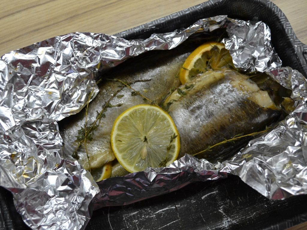 Фото рецепта - Рыба Терпуг, запеченная в фольге - шаг 4