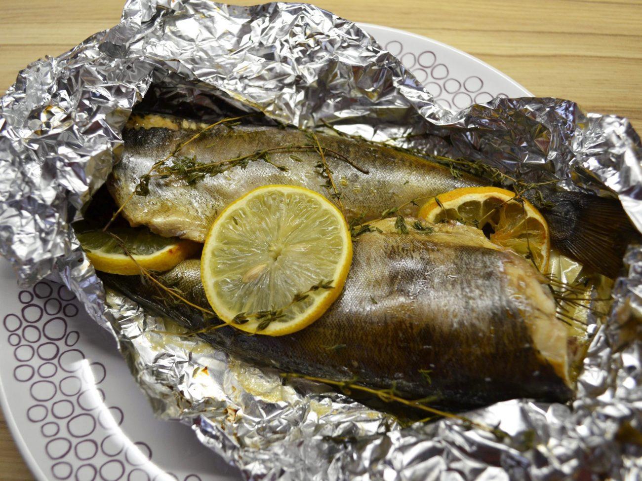 Рыба Терпуг, запеченная в фольге