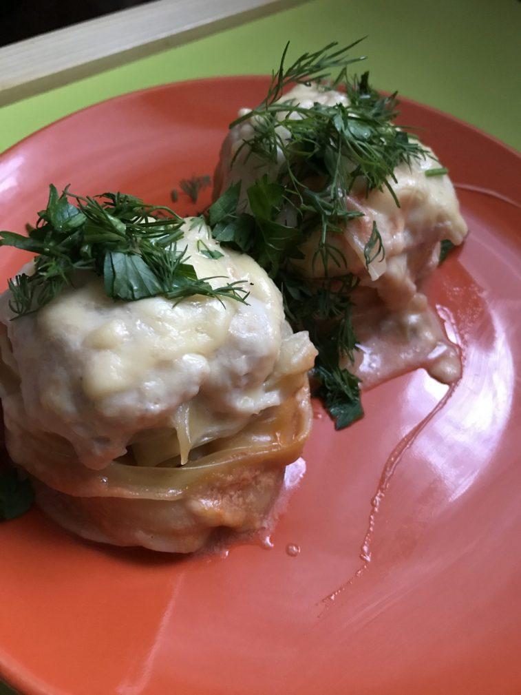 Фото рецепта - «Гнезда» в духовке с куриным фаршем - шаг 8