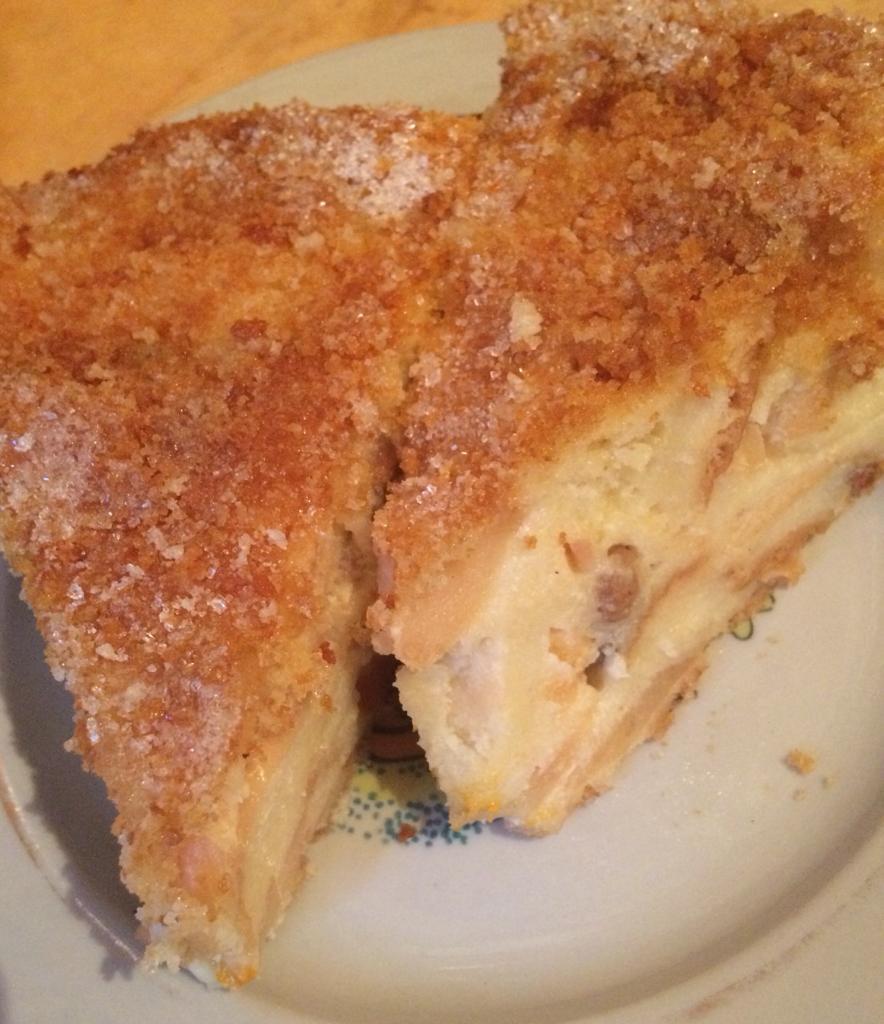 Крестьянский хлебный пирог с фруктами