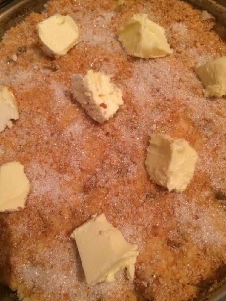 Фото рецепта - Крестьянский хлебный пирог с фруктами - шаг 5