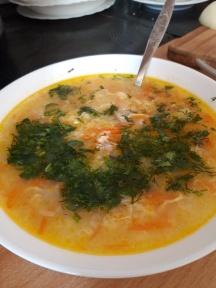 Суп с пшеном на говяжьем бульоне в мультиварке - рецепт с фото