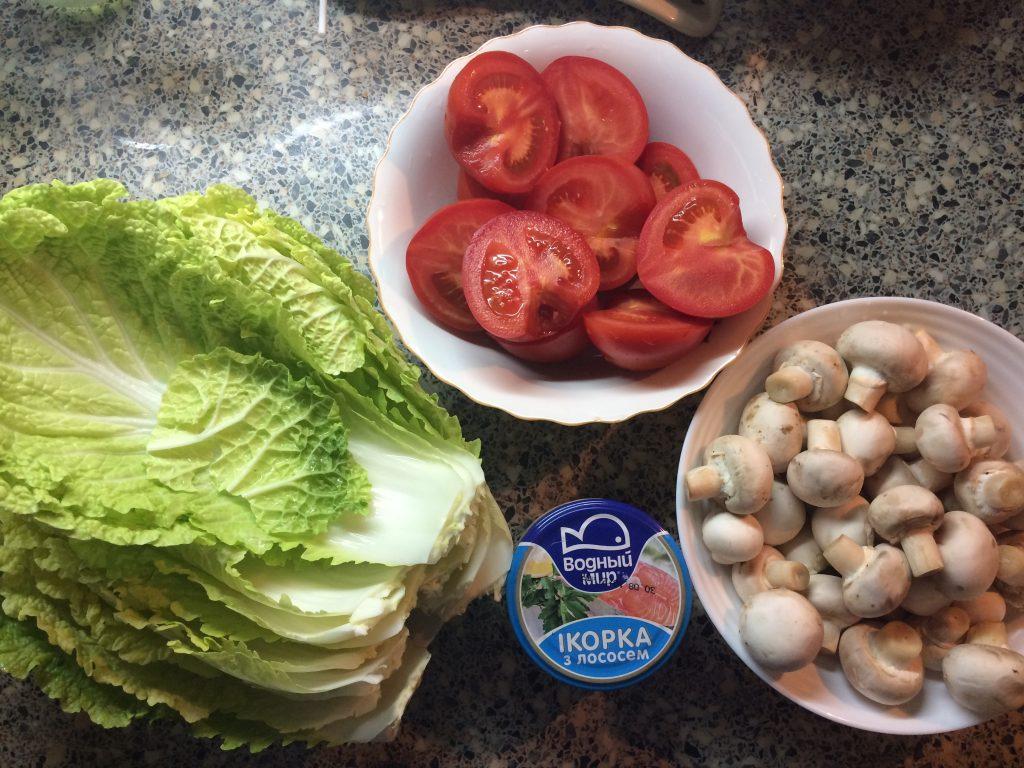 Фото рецепта - Салат с икрой из лосося - шаг 1