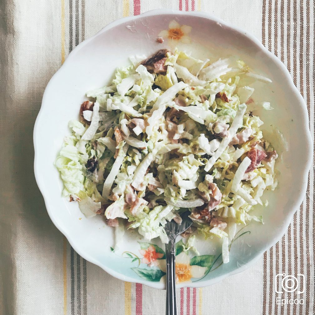 Фото рецепта - Особенный салат из копченой курицы и чернослива - шаг 5