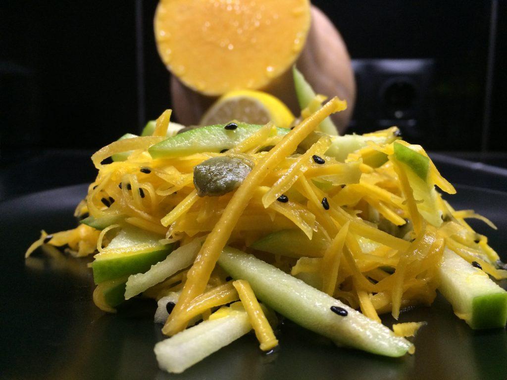 Фото рецепта - Салат из тыквы и зеленого яблока - шаг 4