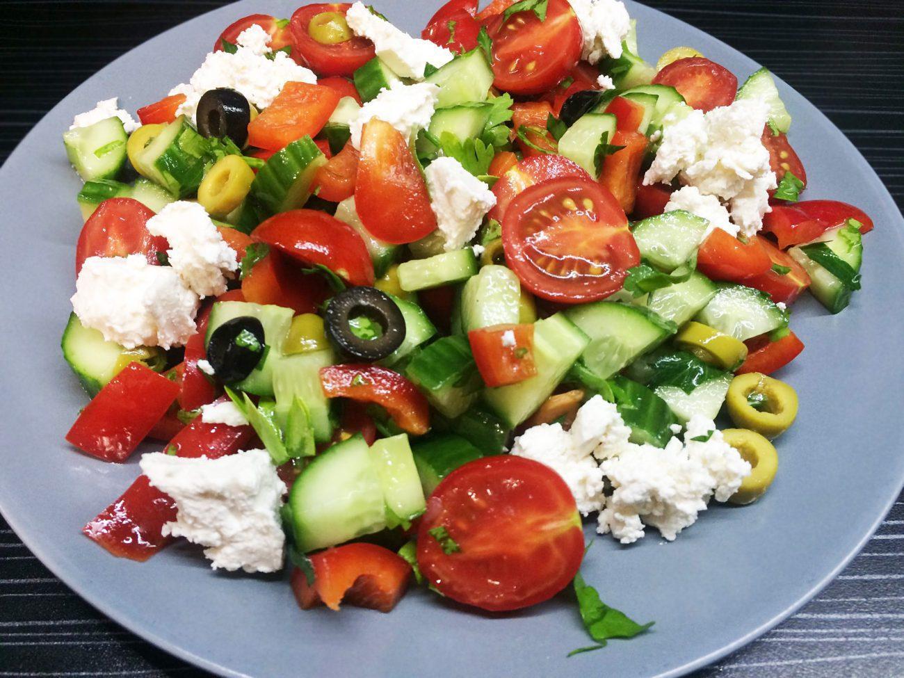 Салат «Греческий» – пошаговый рецепт