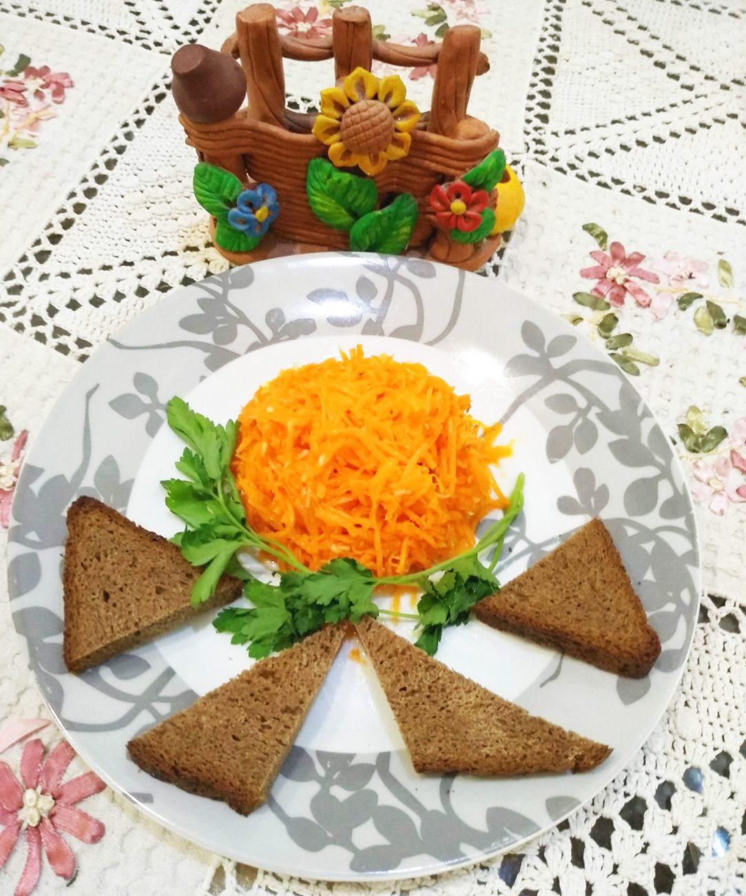 Любимая ароматная морковь по-корейски с кисло-сладким вкусом