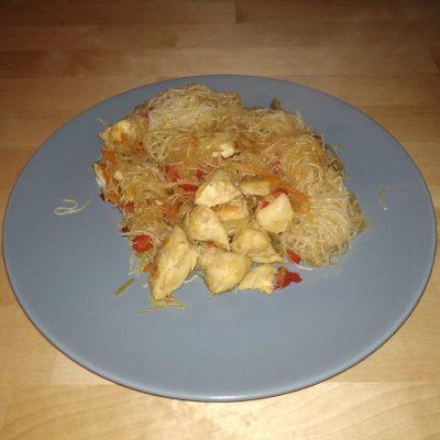 Фото рецепта - Фунчоза с курицей - шаг 11