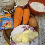 Фото рецепта - Морковный пирог с кунжутом - шаг 1