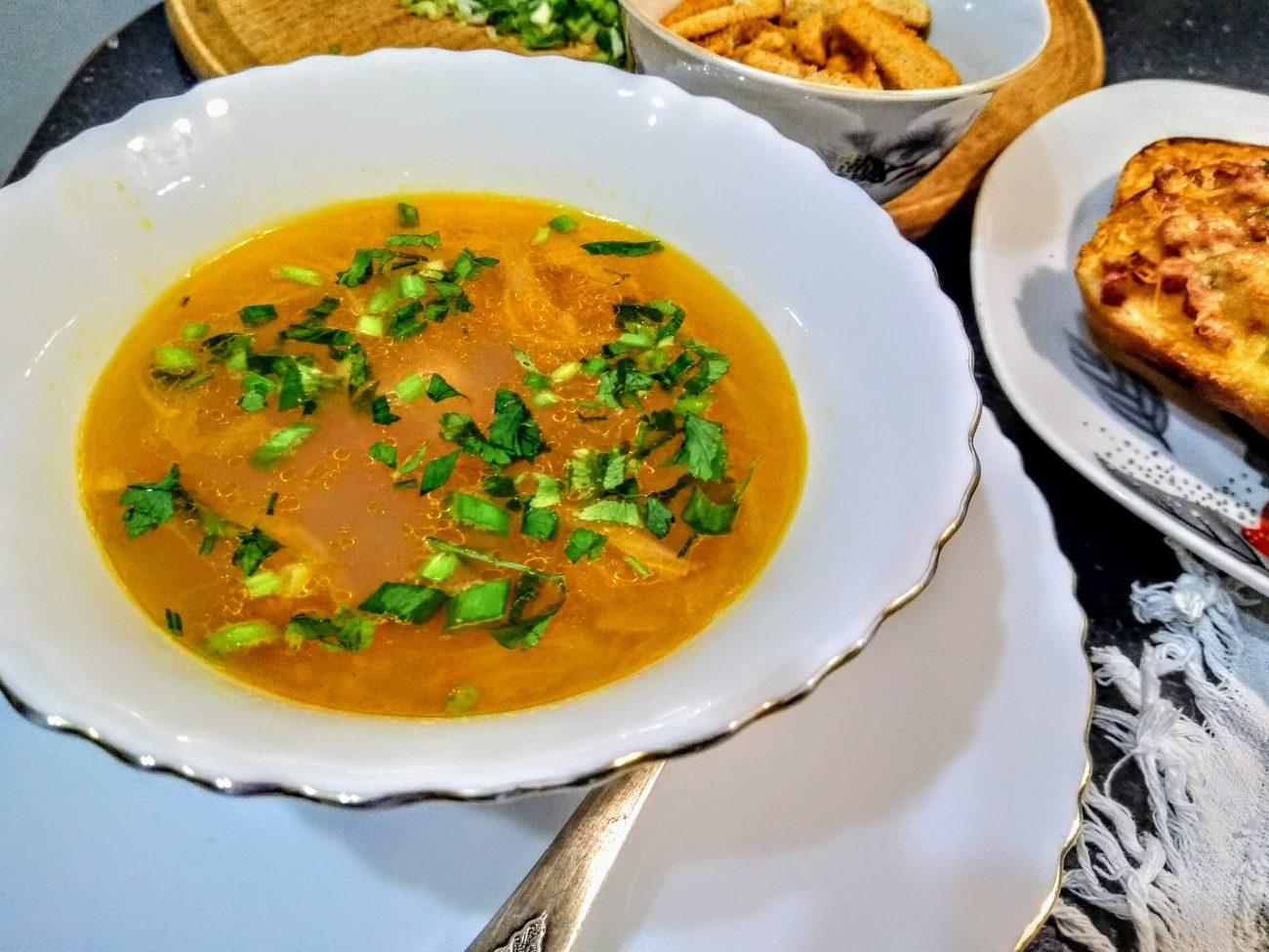 """Гороховый суп с колбасой """"Просто и вкусно"""""""