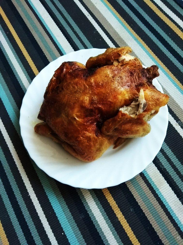 Фото рецепта - Спагетти с запечённой курицей под сливочным соусом - шаг 10