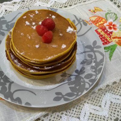 Фото рецепта - Мега вкусные панкейки с тыквой - шаг 3