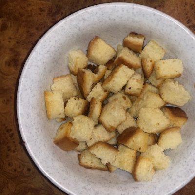 Фото рецепта - Суп с чечевицей и чесночными гренками - шаг 5