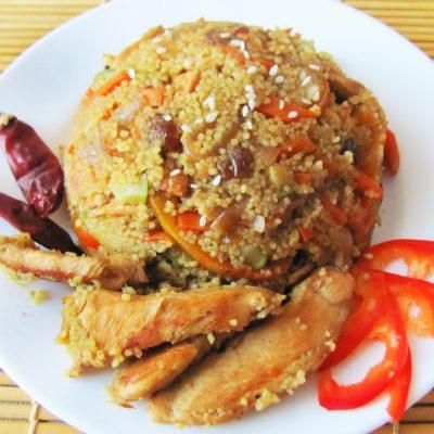 Курица с овощами и кус-кусом - рецепт с фото