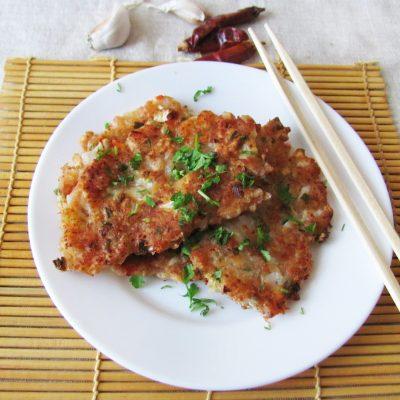 Острые блинчики с кимчи (с капустой) - рецепт с фото