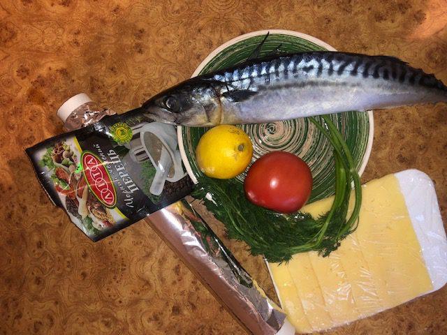 Фото рецепта - Фаршированная скумбрия, запеченная в фольге в духовке - шаг 1