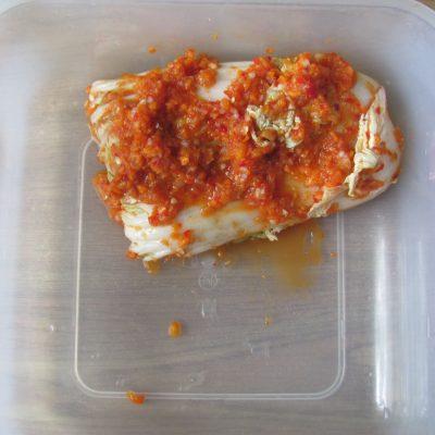 Фото рецепта - Домашнее кимчи – квашеная пекинская капуста - шаг 14