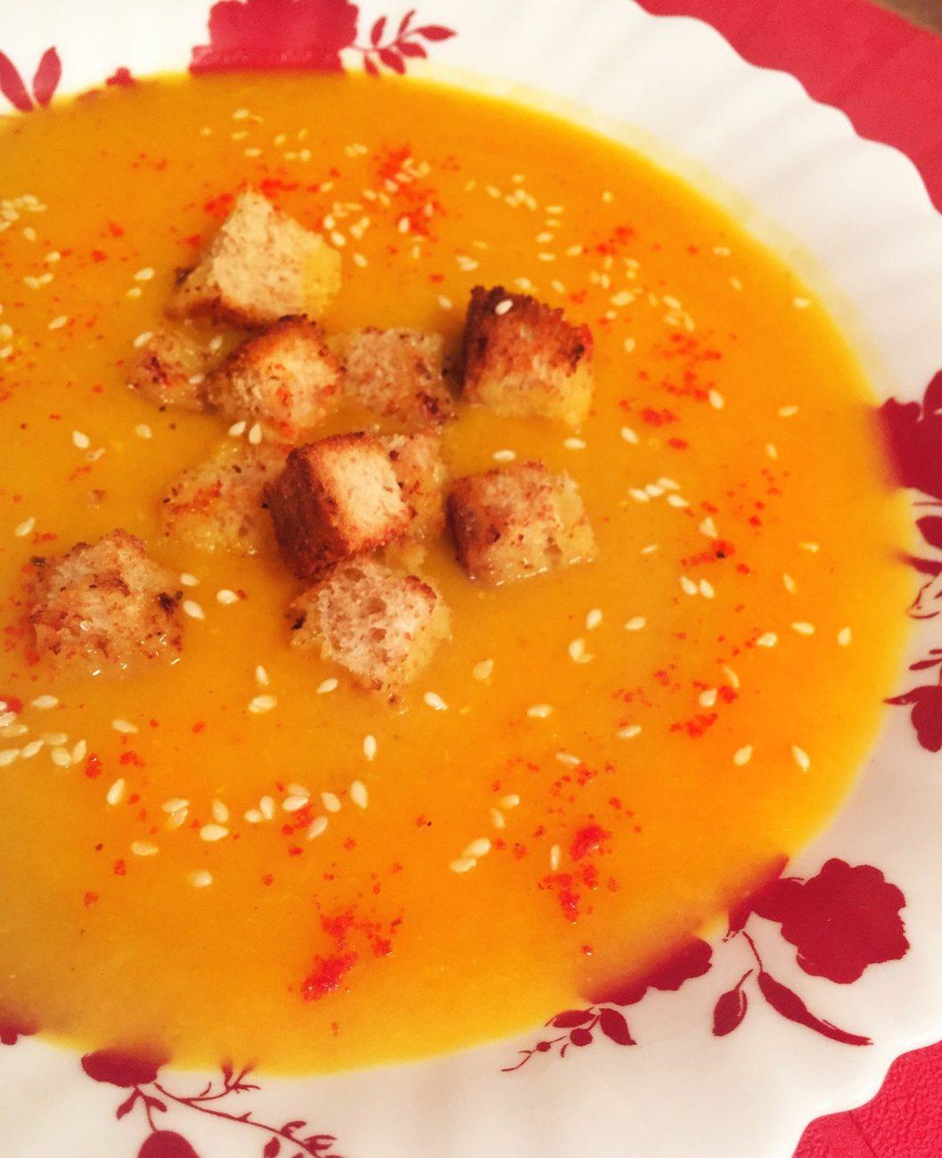 Ароматный крем-суп из тыквы