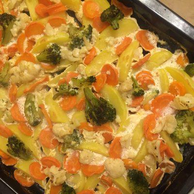 Фото рецепта - Куриная грудка с овощами в духовке - шаг 6