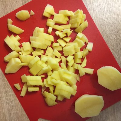 Фото рецепта - Тушеная картошка со свининой - шаг 3