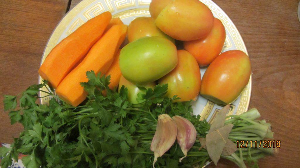 Фото рецепта - Фаршированные соленые помидоры на зиму - шаг 1
