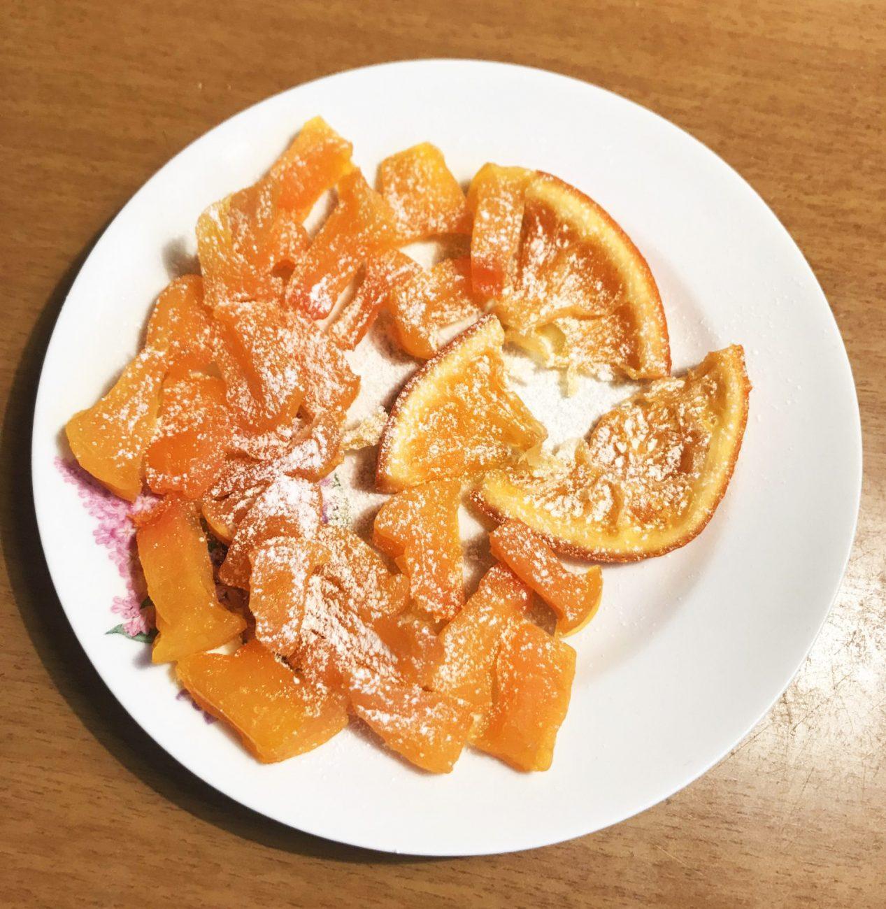 Цукаты из тыквы и апельсина