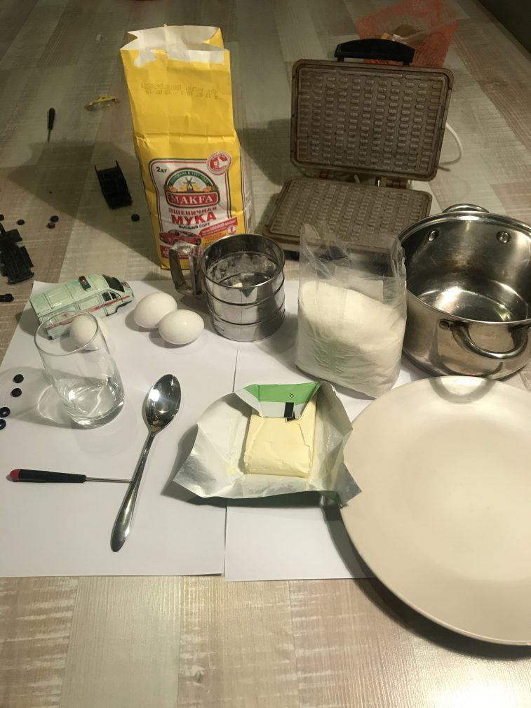 Фото рецепта - Вафельный торт - шаг 1