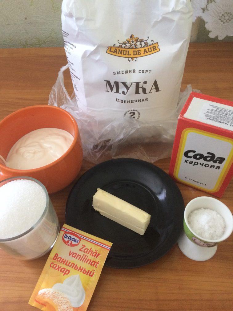 Фото рецепта - Жареные коржи для торта - шаг 1