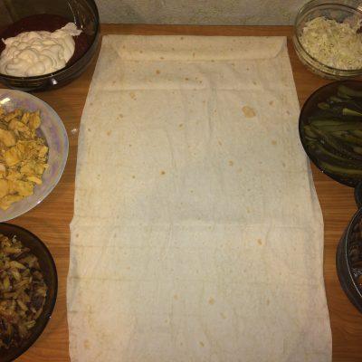 Фото рецепта - Шаурма по-домашнему - шаг 4