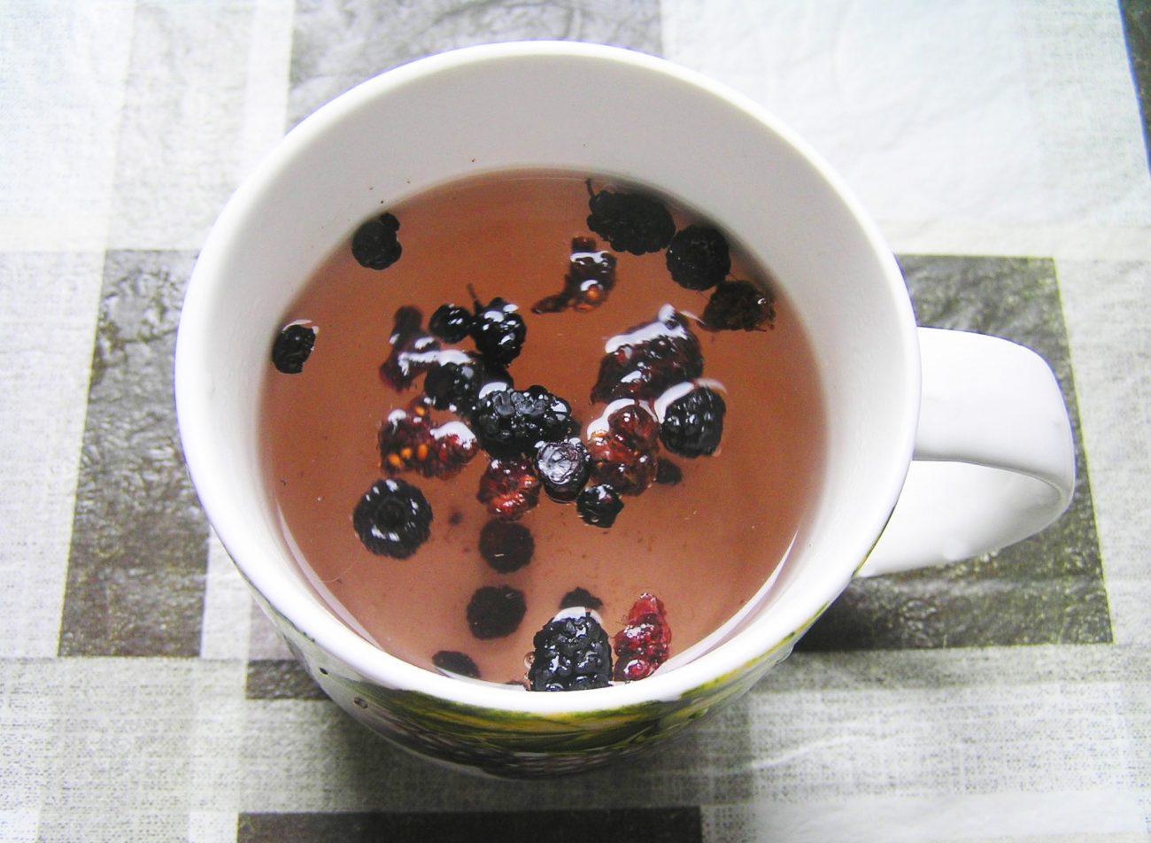 Чай из сушеных ягод