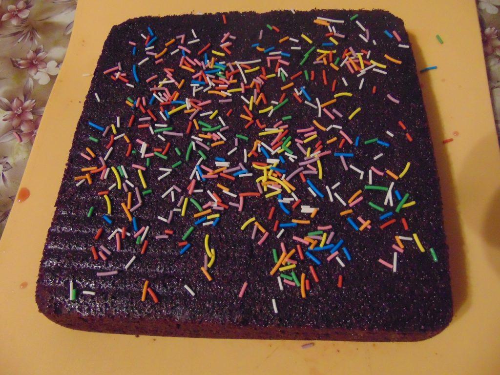 Фото рецепта - Шоколадный манник с маком - шаг 5