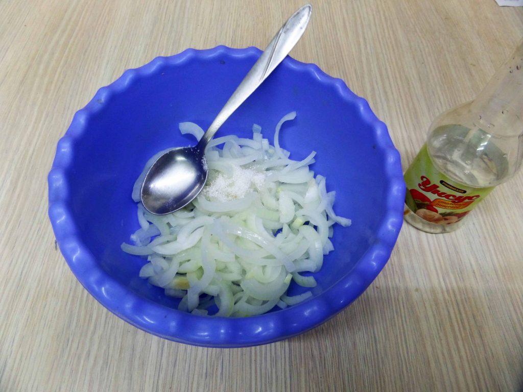 Фото рецепта - Салат из жареных баклажан - шаг 5