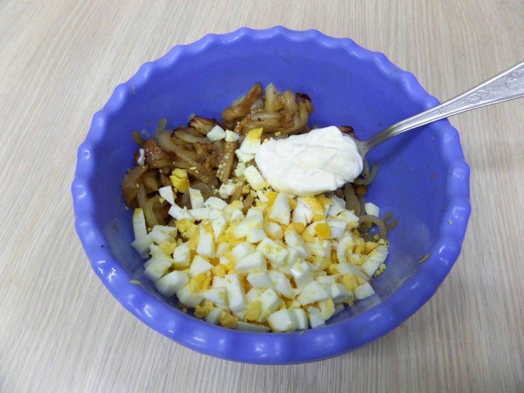 Фото рецепта - Салат из жареных баклажан - шаг 8