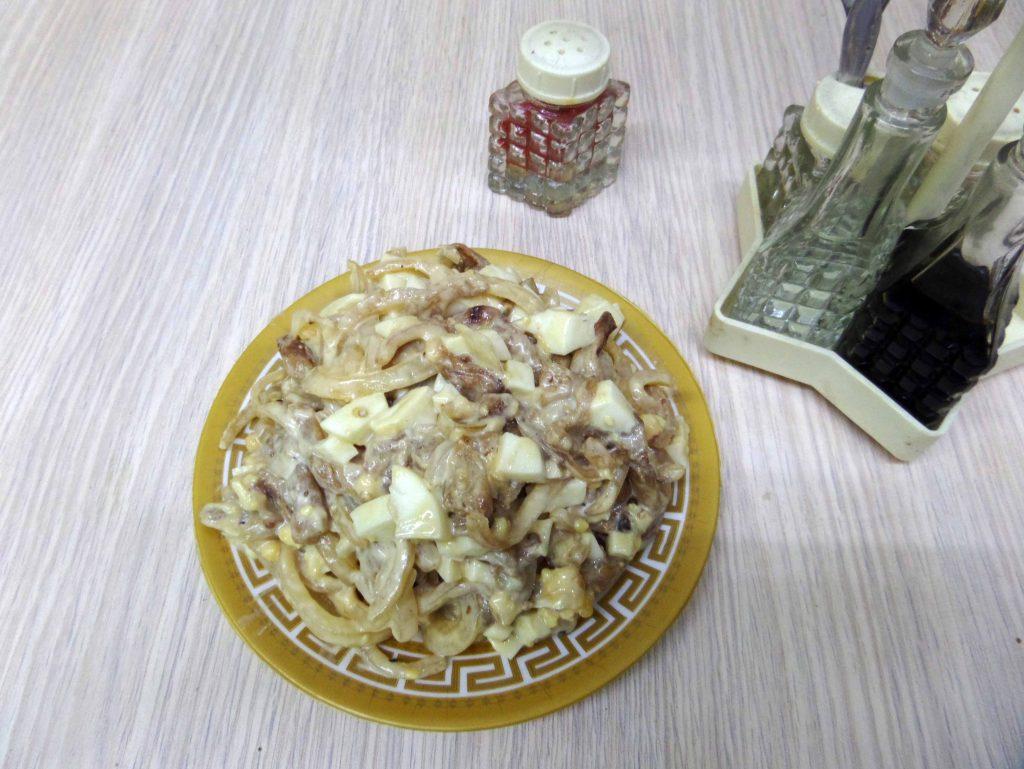 Фото рецепта - Салат из жареных баклажан - шаг 9