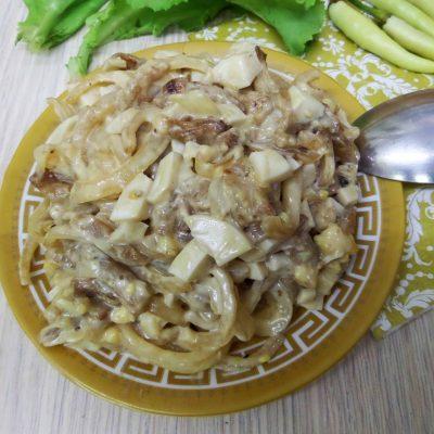 Салат из жареных баклажан - рецепт с фото