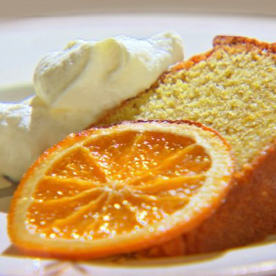 Апельсиновый манник с хрустящей корочкой (на кефире) - рецепт с фото