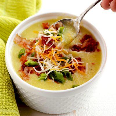 Картофельный суп с беконом и сельдереем - рецепт с фото