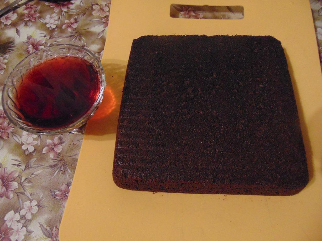 Фото рецепта - Шоколадный манник с маком - шаг 4
