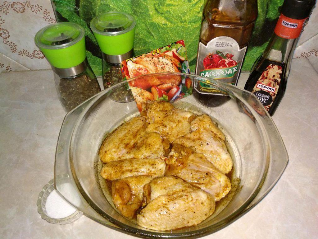 Фото рецепта - Куриные крылья в маринаде (в аэрогриле) - шаг 2