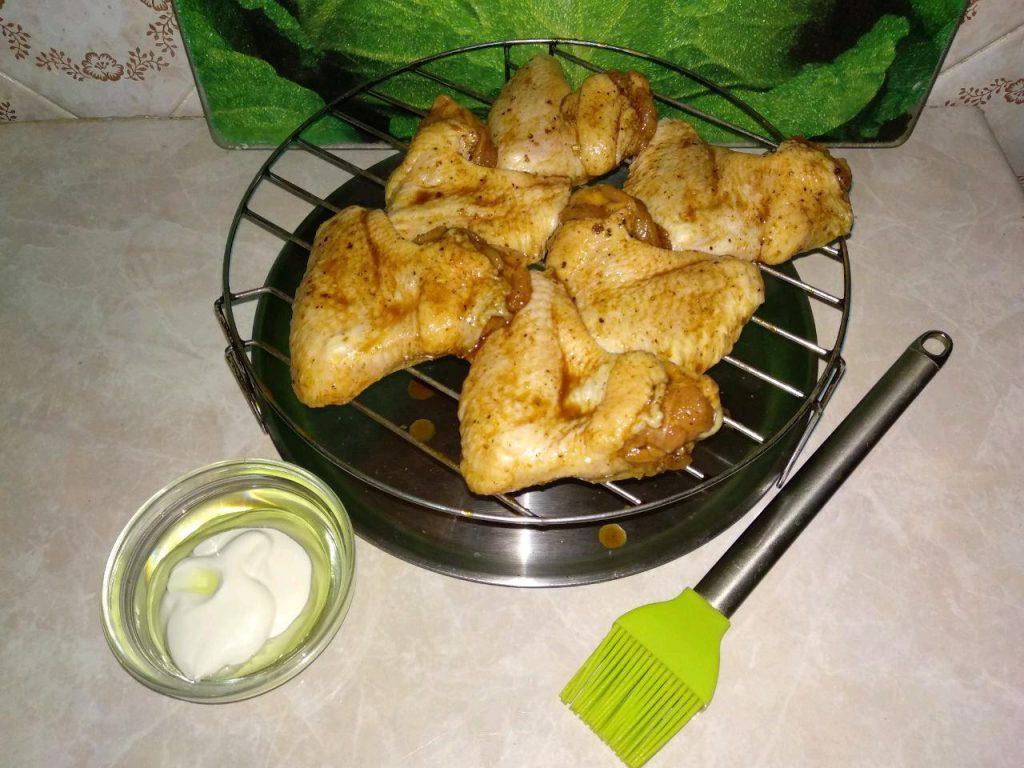Фото рецепта - Куриные крылья в маринаде (в аэрогриле) - шаг 3