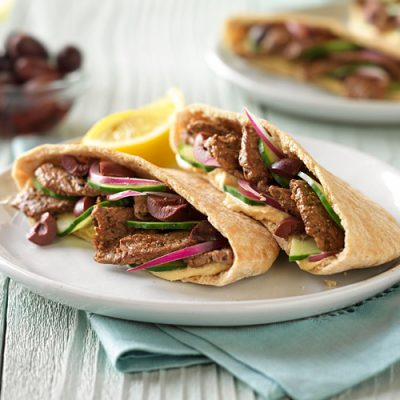 Пита с телятиной в греческом стиле - рецепт с фото
