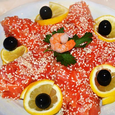 Салат морская звезда с креветками - рецепт с фото