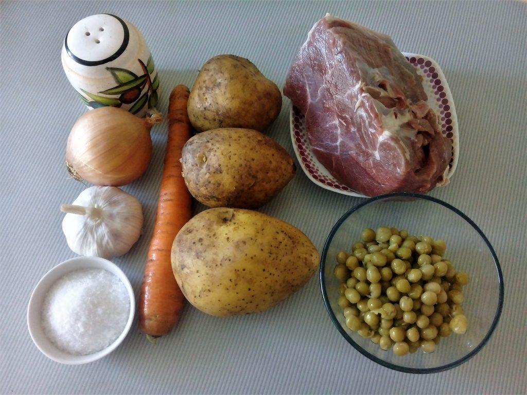 Фото рецепта - Суп с консервированным горошком с говядиной - шаг 1
